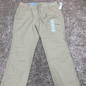 Old navy khaki pants NWT